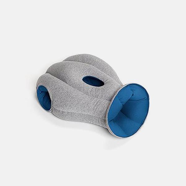 西班牙经典款鸵鸟枕   保丽龙颗粒材质制成 旅行出游好伴侣【蓝色】