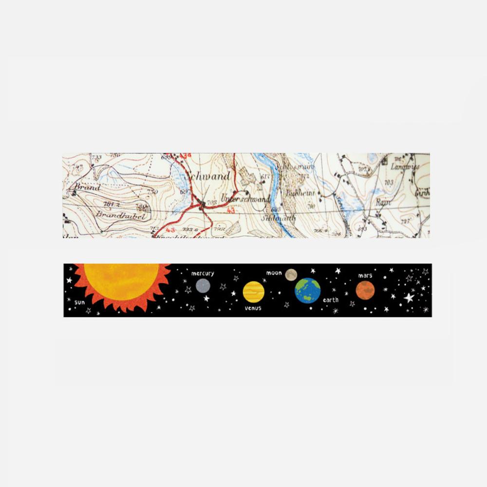 地图星球系列和纸胶带