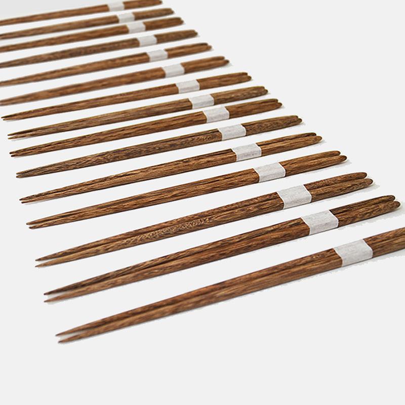 「山舍」墨石系列木筷+木筷托两双套装