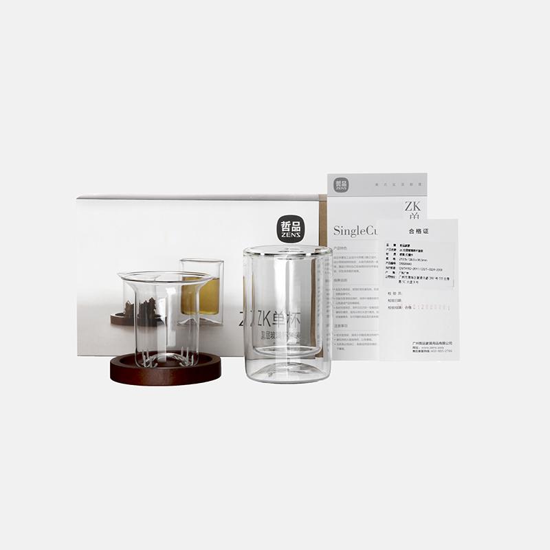 ZK双层玻璃单杯套装   以建筑主张设计出的茶杯