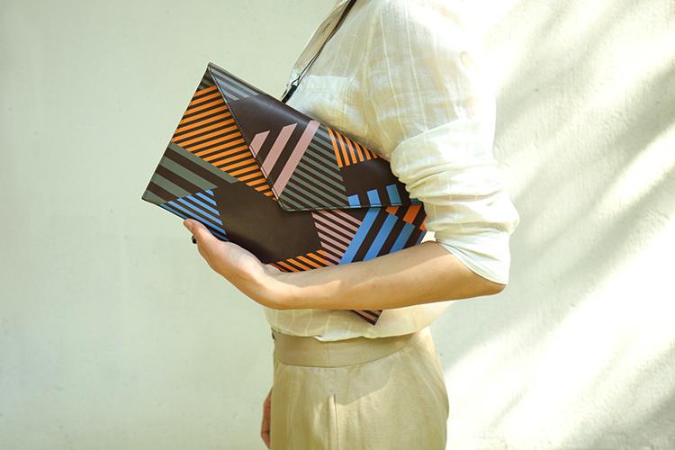 个性信封造型手拿包   真皮手工制作 两色可选