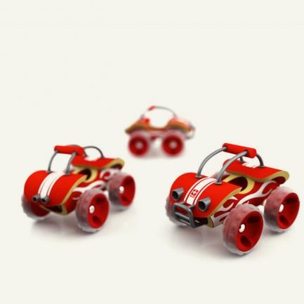 Hape竹制汽车模型