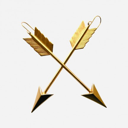 A.V. Max Gold Arrow Earrings黄金箭耳环