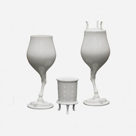 高脚踏燕茶马杯-对杯   颇具艺术创意性的酒具