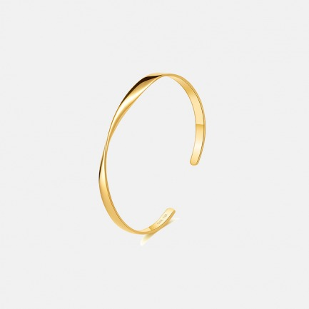 莫比乌斯18K纯金手镯 | 永不褪色的亘古承诺