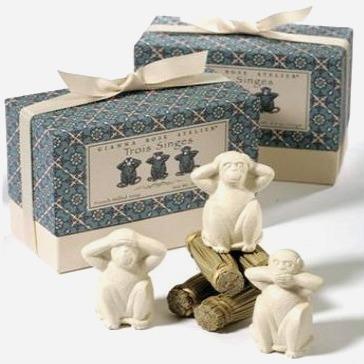 "Three Wise Monkeys ""Trois Singes"" Soaps"