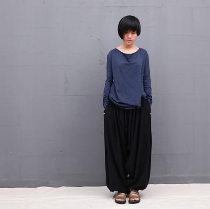 rizhuo 灰蓝色解构设计长袖T