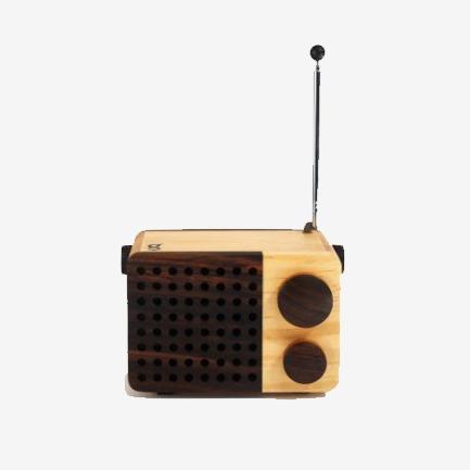 全手工Magno mini radio 仿古方形古典木制收音机