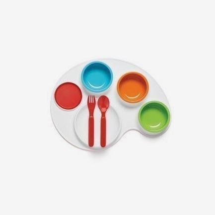 美国Skip Hop 宝宝调色板型餐盘组合