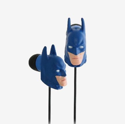 蝙蝠侠立体3D头型耳机线