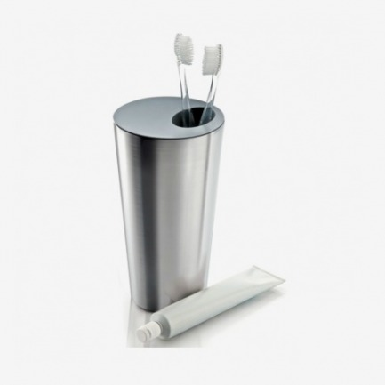 丹麦Eva Solo 卫浴不锈钢牙刷桶
