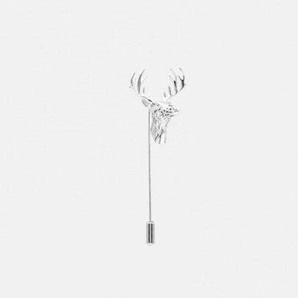 s925银胸针Deer-B | 3D打印的镂空鹿角