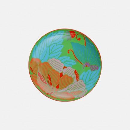 蝶恋花瓷盘(绿色) | 以中国词牌蝶恋花为灵感