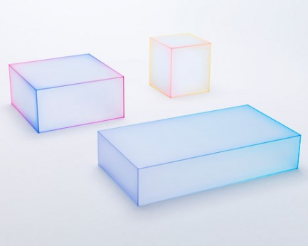 Nendo previews Soft glass table collection for Milan exhibition