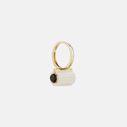 罡风戒指(WYF(YS)-5) | 925银+罗甸玉+黑玛瑙
