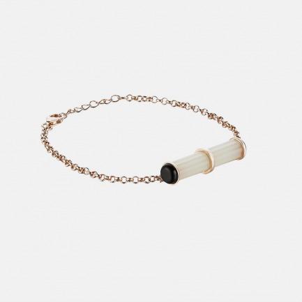 罡风手链(WYF(YS)-12) | 925银+罗甸玉+黑玛瑙