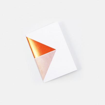几何拼图笔记本-白橙 | 英式简约风格设计