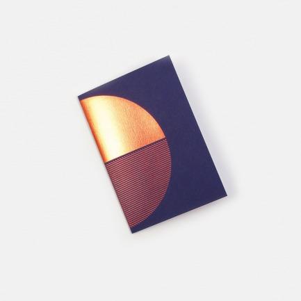 几何拼图笔记本-蓝橙