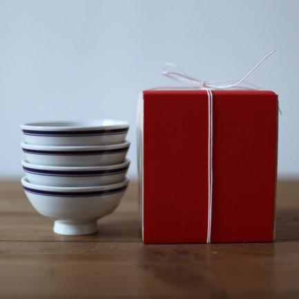早生贵子礼盒 蓝边小碗×4 | 儿时记忆里的蓝边碗