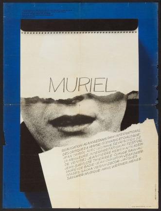 Muriel (Alain Resnais, 1963) French grande with original design by Hans Hillmann