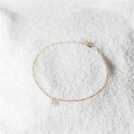 珍珠手链-莹 | 18k金+天然海水白珍珠
