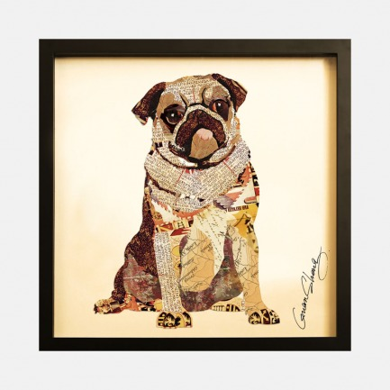 巴哥犬-手工拼贴装饰画 | 每幅都是独一无二的艺术品