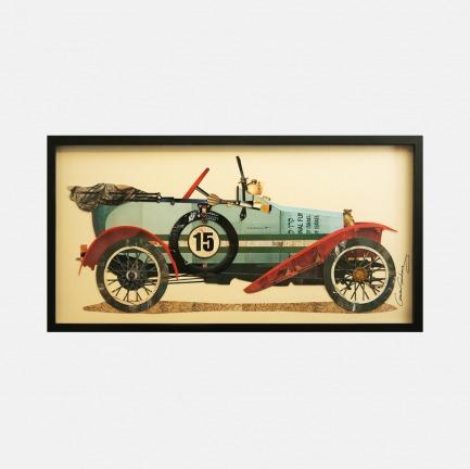 老爷车#1 手工拼贴装饰画 | 每幅都是独一无二的艺术品