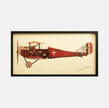 飞机#2 手工拼贴装饰画 | 每幅都是独一无二的艺术品