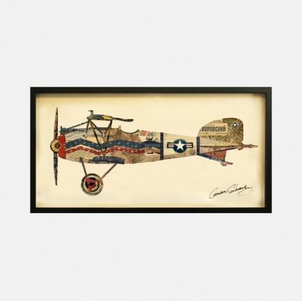 飞机#3 手工拼贴装饰画 | 每幅都是独一无二的艺术品
