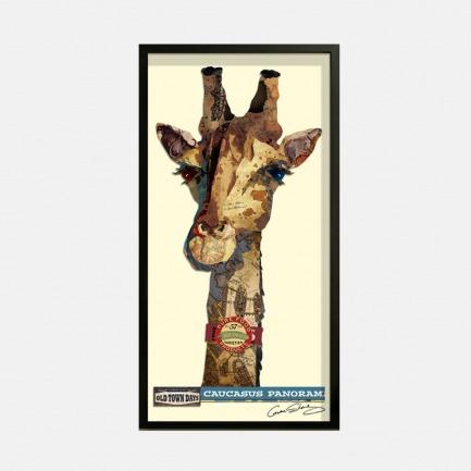 长颈鹿-手工拼贴装饰画 | 每幅都是独一无二的艺术品