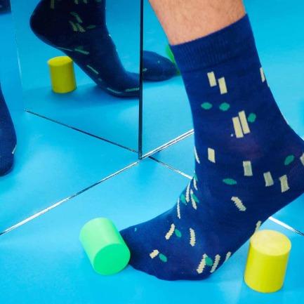 条形波点袜子 | 原创个性图案 与众不同