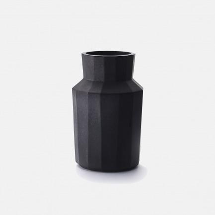 铁釉多棱敞口瓶