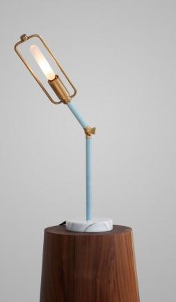 Brass Flexible Desk Lamp w/ Marble Base