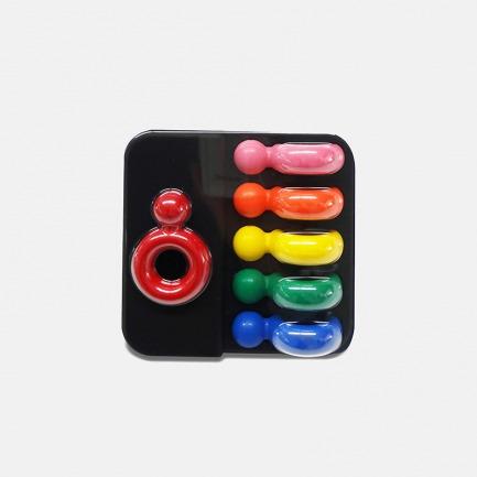 趣味玩具蜡笔 6色指环款 | 安全认证 宝宝玩得更安心