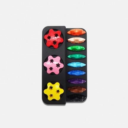 趣味玩具蜡笔 12色花朵款 | 安全认证 宝宝玩得更安心