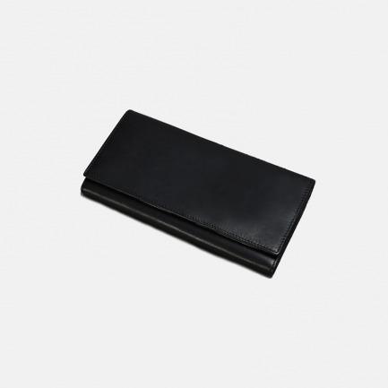 黑色长款三阶式钱包   经典简约款 意大利皮革打造