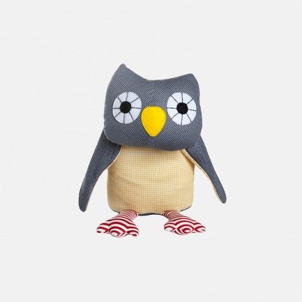 丹麦设计 灰色猫头鹰玩偶 | 趣味卡通形象 安全高品质