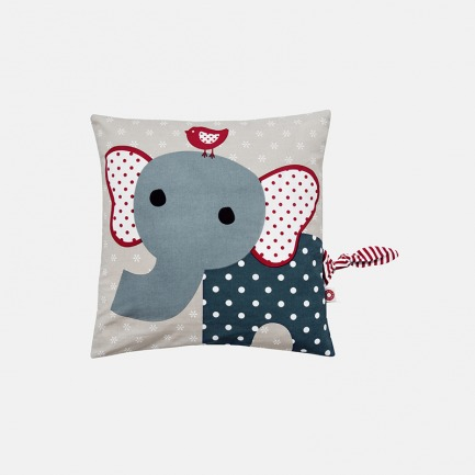 丹麦儿童设计 蓝色大象有机抱枕