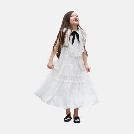 蝴蝶结蕾丝长裙