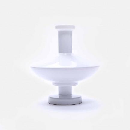 白色几何陶瓷花瓶V4 | 手工打造 精致富有艺术感
