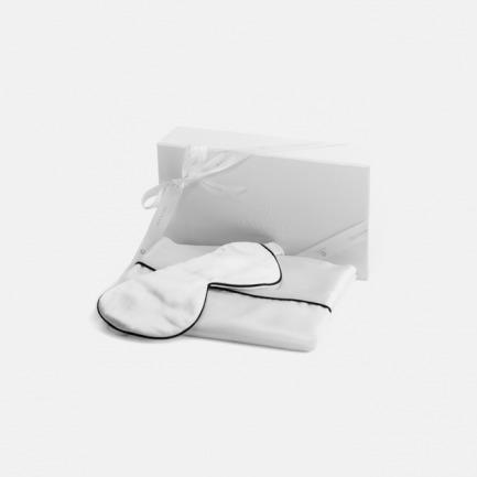 美肌甜睡真丝礼盒 净荼白 | 顶级桑蚕丝精制枕套+眼罩