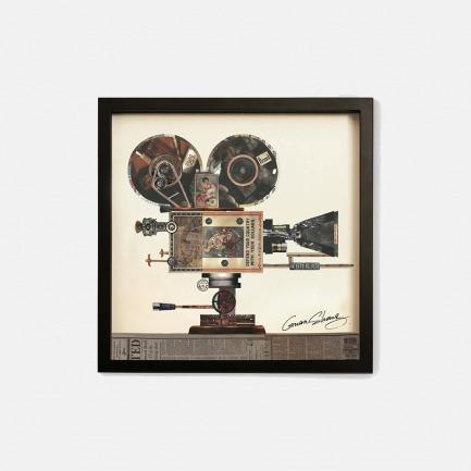 老式放映机-手工拼贴装饰画 | 每幅都是独一无二的艺术品