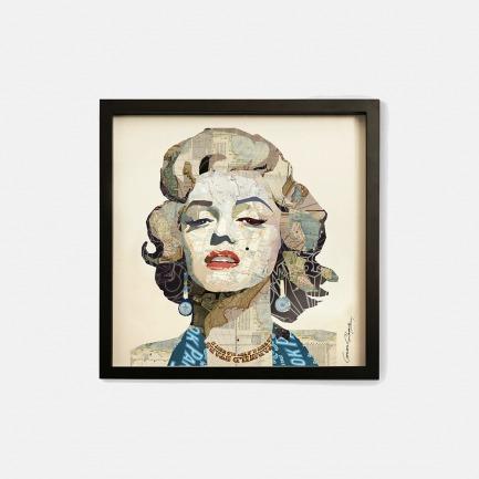 女神梦露-手工拼贴装饰画 | 每幅都是独一无二的艺术品