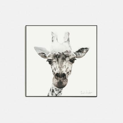 森林与长颈鹿-水晶版画 | 水晶分隔空气 画面恒久稳定