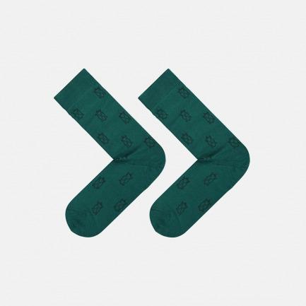 绿色玄龟图案 全棉长款男袜 | 为有趣的人做有趣的袜子