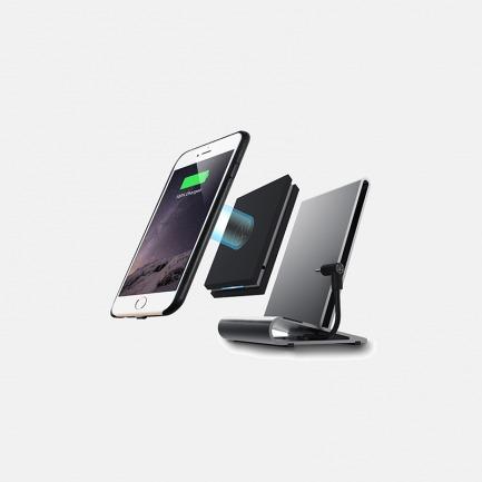 QI无线充电座带支架-太空灰 | 支持iPhone8/8plus /iPhoneX 无线充