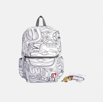 白描涂鸦包套装 | 附赠水彩笔自己给背包上色
