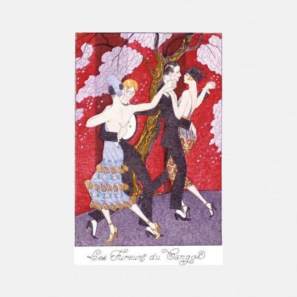 家居装饰画 愤怒的探戈 | 法国Georges Barbier作品