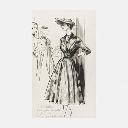 装饰画 裙子的时尚素描 | 法国Marcel Fromenti作品