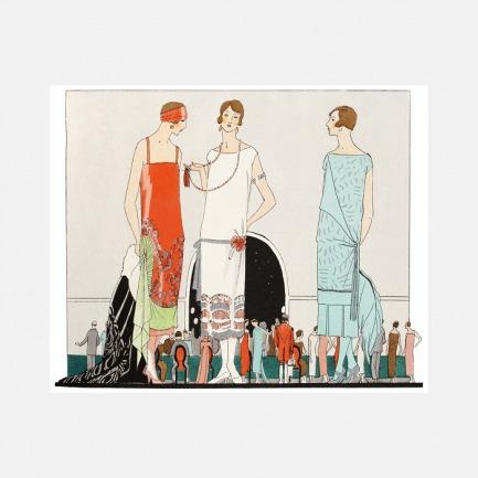 家居装饰画 杂志里的晚礼服 | 描绘追求摩登生活的女郎